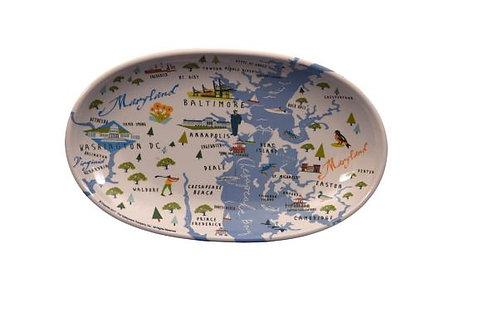 Chesapeake Bay Melamine Tidbit Trays - Set of 4
