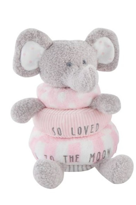 Stackable Plush Toy - Pink Elephant