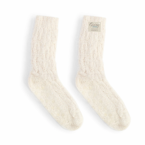 Giving Collection - Cream Socks