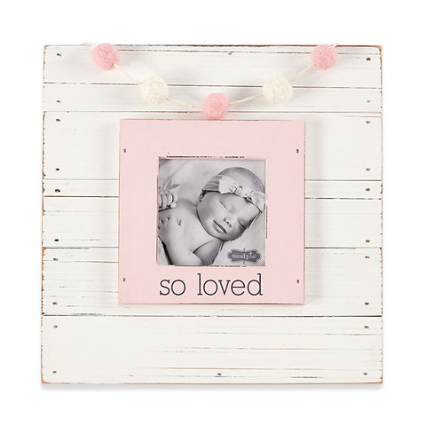 Pink So Loved Garland Picture Frame