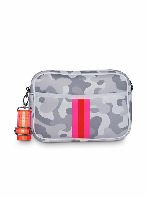 Drew Crossbody - Camo Pink Stripe