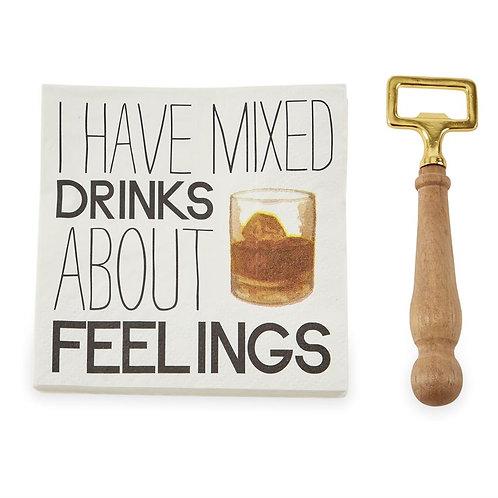 Drinks Napkin Set - Feelings