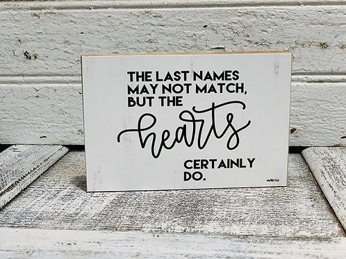 Block Sign - Last Names Match
