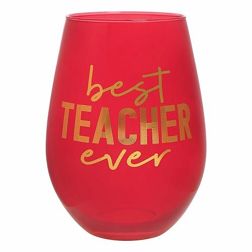 Teacher Jumbo Wine Glass