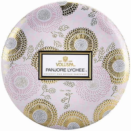 Voluspa 3 Wick Tin Candle - Panjore Lychee