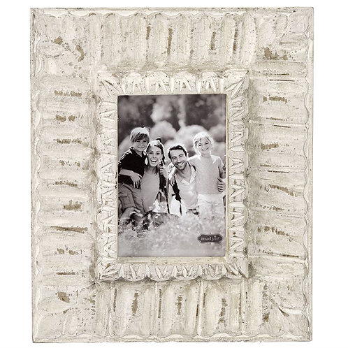 White Ornate Frame