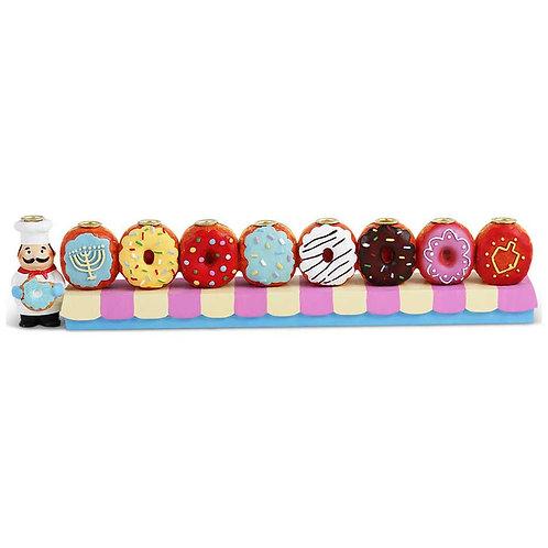 Donut Menorah