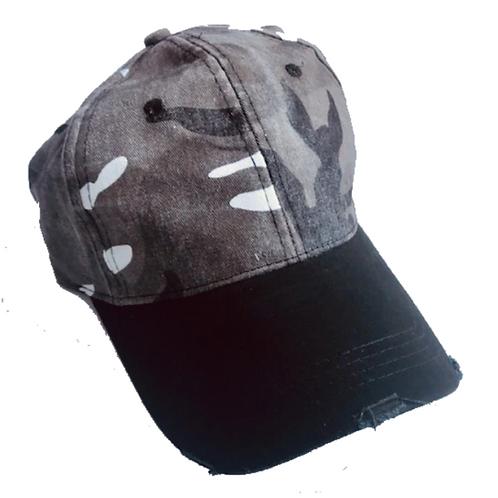 Camo W/ Black Brim Haute Shore Baseball Hat