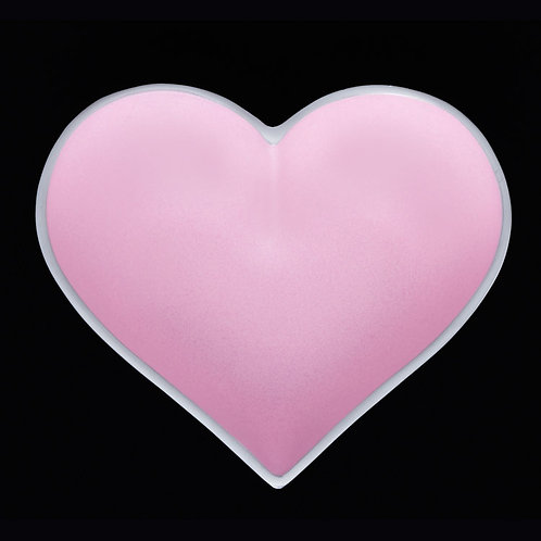 5 Inch Happy Heart Candy Dish - Light Pink