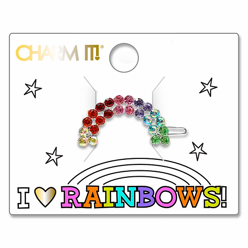 Charm It! Rhinestone Rainbow Barrette