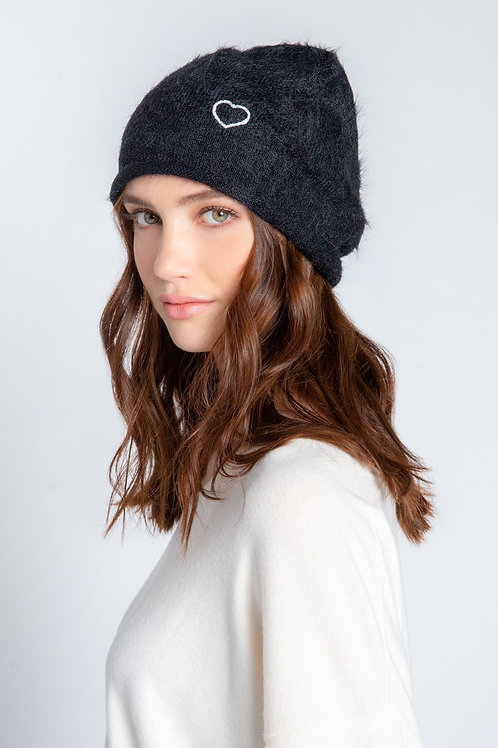 Heart Feather Knit Hat (PJ Salvage)