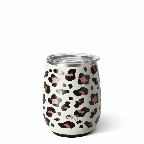 Swig 14 oz Stemless Wine - Leopard