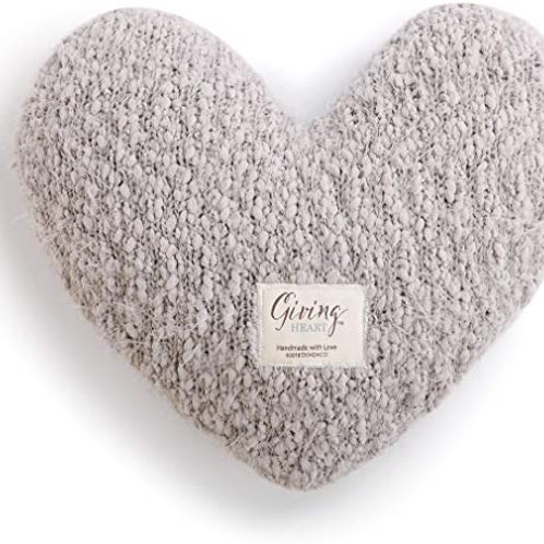 Giving Collection - Gray Heart Pillow