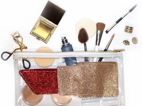 Lipstick Cosmetic Bag/Clutch