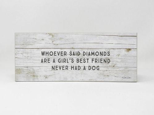 Block Sign - Diamonds & Dogs