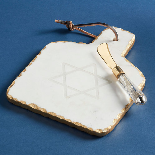 Star Of David Marble Serving Set