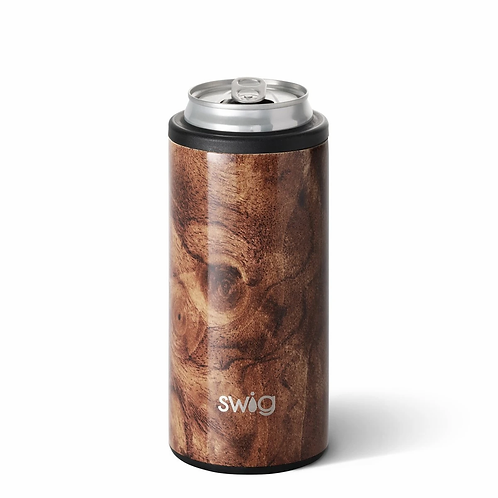 Swig 12 oz Skinny Can Cooler -Walnut