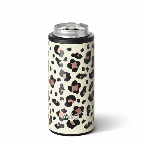Swig 12 oz Skinny Can Cooler -Leopard