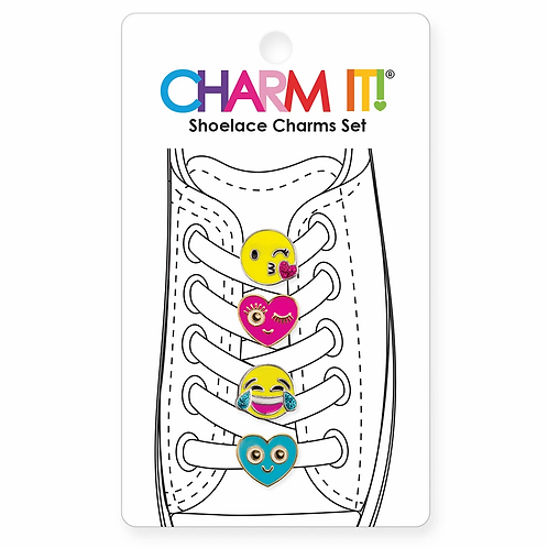 Charm It! Emoji Shoelace Charm Set
