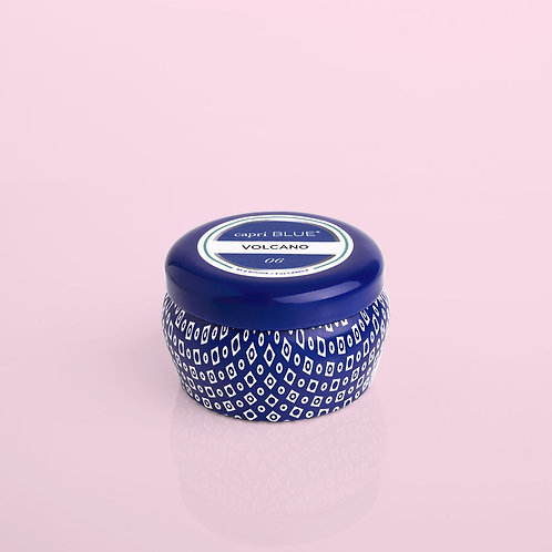 Capri Blue Printed Mini Tin - Volcano (Blue)