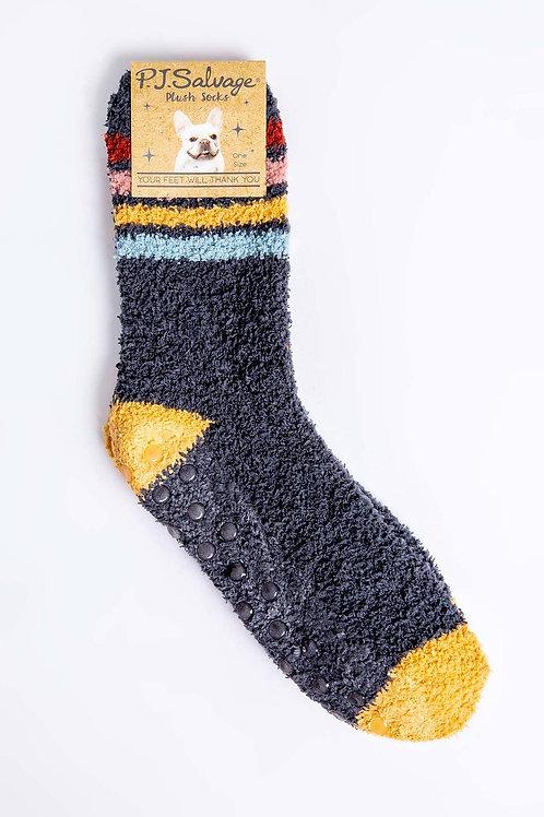 Colorful Stripe& Navy Socks (PJ Salvage)