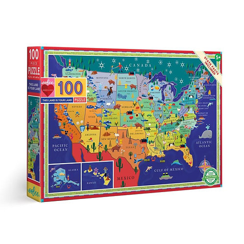 100 Pc. Puzzle - This Land Is Your Land