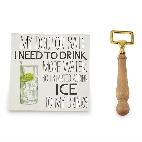 Drinks Napkin Set - Doctor Said
