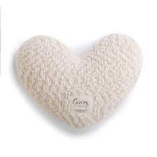 Giving Collection - Cream Heart Pillow