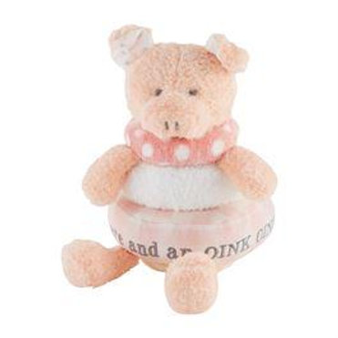 Stackable Plush Toy - Pink Pig