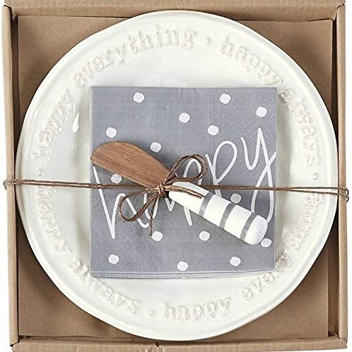 Happy Cheese Plate Gift Set