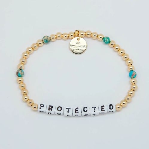 Protected (Gold) Little Words Project Bracelet