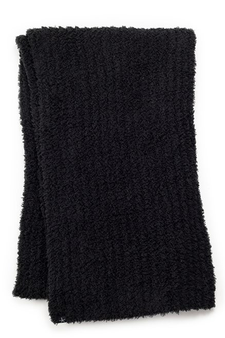 Barefoot Dreams CozyChic Ribbed Scarf - Black