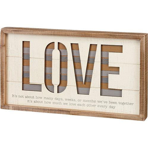 Box Sign 18 x 10 - Love