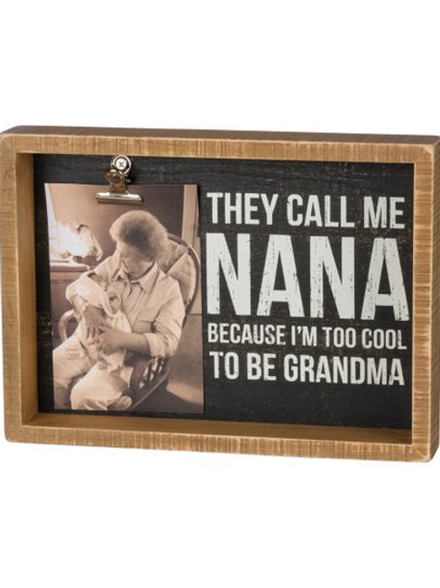 Box Picture Frame - They Call Me Nana