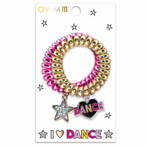 Charm It! Dance Coil Bracelet/Hair Tie Set