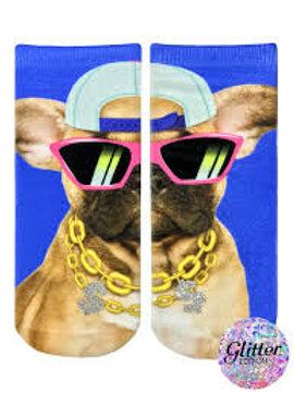Pup Life Glitter Living Royal Ankle Socks