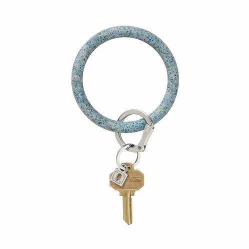 Big O Keyring - Blue Confetti