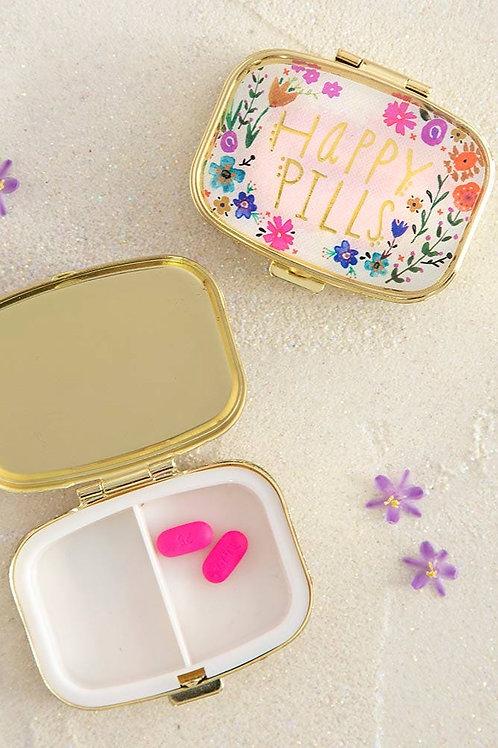 Pill Case - Pink Happy Pills