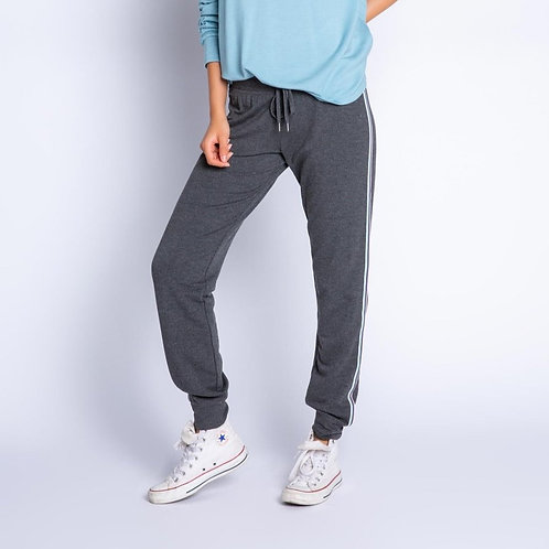 Side Striped Charcoal Joggers (PJ Salvage)