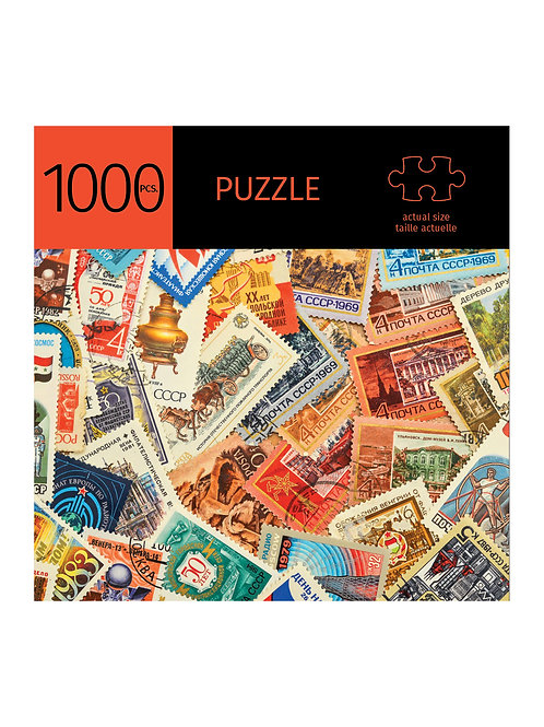 1000 Pc. Puzzle -Stamps