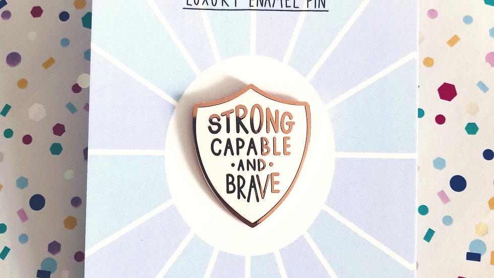 Strong and Capable Enamel Pin