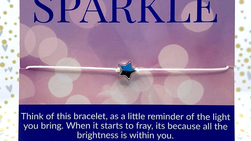"Never Lose your Sparkle ""Wish bracelet"""