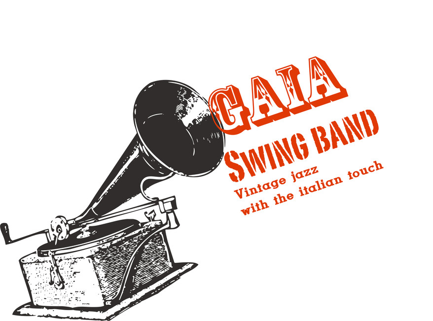 Logo gaia swing band live jazz concerts events