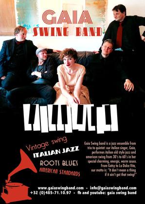 Gaia Swing band, live swing jazz events, lindy hop charleston performances