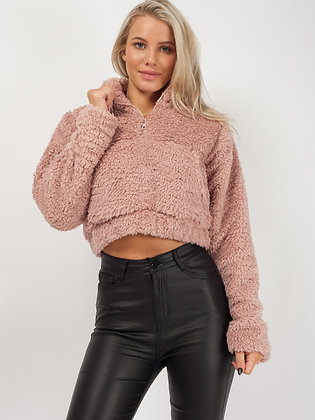 Cropped Teddy Jumper