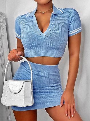 Mimi tennis co-ord blue