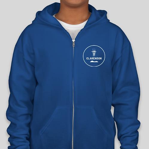 Youth Unisex Zipper Hoody - Tower Logo