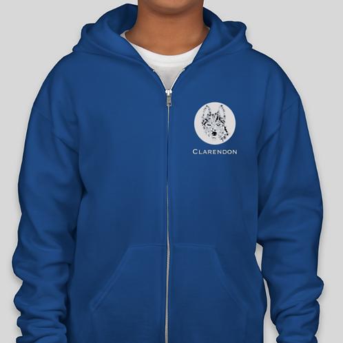 Youth Unisex Zipper Hoody - Husky Logo
