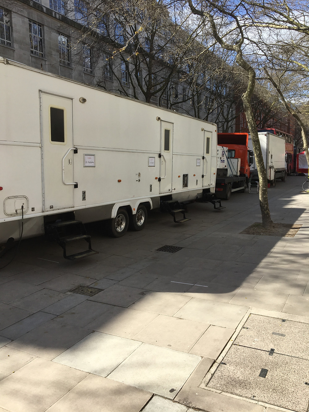 On Location - Winnebago by Wandering Star Facilities and Below in London a full Unit Base Provided and Managed By Us