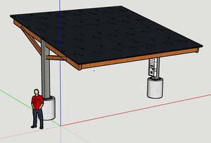 Custom solar carport
